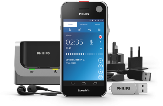 Philips SpeechAir Smart Voice Recorder ( with one years free Speech Live subscription )